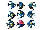 Imanes de pescado – imanes de madera pintados a mano, postes restantes y segunda elección artículo en el juego, peces de ensueño, decoración de habitación infantil.