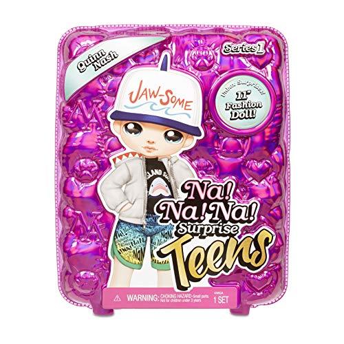 MGA Entertainment Na Na Na Surprise Teens Fashion Doll – Quinn Nash, 11 Boy Doll, Shark Inspired