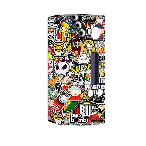 Skin Decal Vinyl Wrap for Wisemec Reuleaux rx200 or evolv dna 200 Vape Mod Box / Sticker Slap