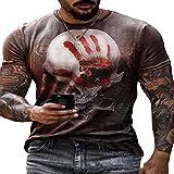 Camiseta De Manga Corta con Logo Estampado Casual para Hombre Estampado por Street Fashion