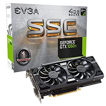 EVGA GeForce GTX 1050 Ti SSC Gaming ACX 3.0 4GB GDDR5 DX12 OSD Support  PXOC  Graphics Card 04G-P4-6255-KR