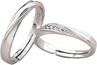 Jewelry 925 Sterling Silver Simple Couples Rings The Best Gift for Lover