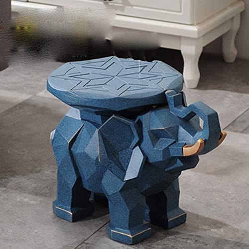 Estatuas Adornos Europeo Elefante Zapato Banco Decoración Extra Grande como Taburete Loto como Imitación Madera Suerte Salón Decoración Regalo