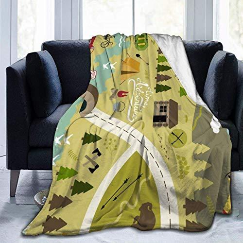 Clsr Leichte, niedliche Schnittmuster-Männerfrauen mit Mikrofleece-Decke Superweiche, leichte, knitterfeste Tagesdecken für das Büro zu Hause (50 x 40 Zoll, 60 x 50 Zoll, 80 x 60 Zoll)