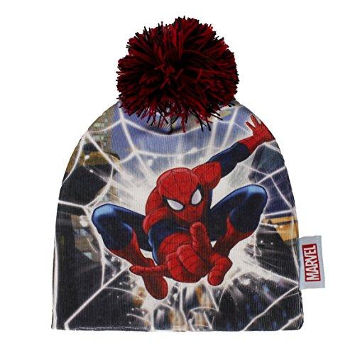 Spiderman knitted hat - bonnet tricotu00e9 - Strickmu00fctze 2200-905