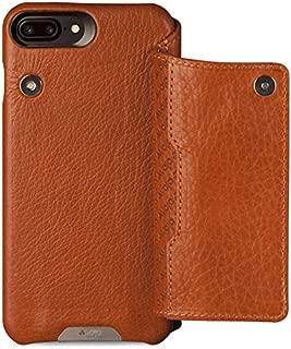 Vaja Cases Niko Wallet iPhone 7 Plus Leather Case - Magnetic Closure System, Back Multi Card Slot - Bridge Saddle Tan