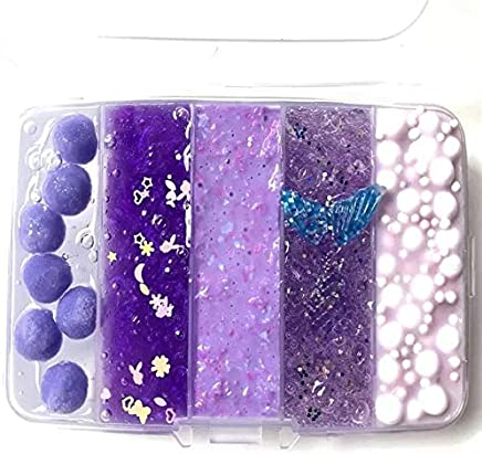 big sale 38aa6 c09c0 Purple (5 in 1) Beautiful Color Mixing Cloud Slime squishy Scented stress  Kids Clay