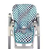 BambiniWelt - Funda de asiento de repuesto para Peg Perego Prima Pappa Diner, color blanco con lunares