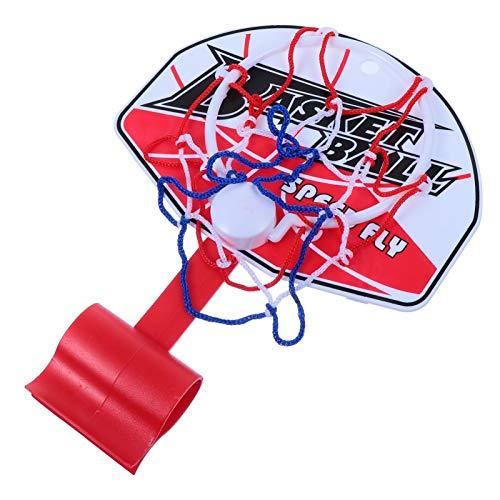 VOSAREA Basketball Trash Can Hoop Basketball Garbage Can Toys Board Clip Game for Home Office Waste Basket Restroom Bathroom Basketball Toys