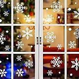 UMIPUBO 216 Piezas de Copo De Nieve Pegatinas de Navidad Pegatina de Ventana Decoraciones de Ventana de Navidad Invierno Pegatinas de PVC Navidad Decoración de la Pared