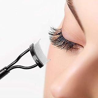 CharmCollection Eyelash Comb Curler Eyebrow Brush Eyelash Separator Mascara Applicator Eyelash Definer With Comb Cover Arc...