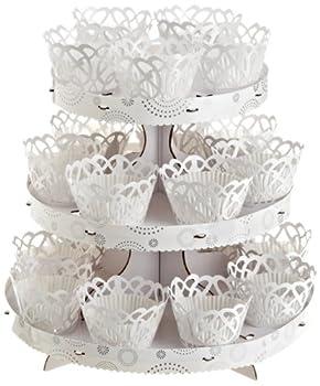 Wilton Elegant White Cupcake Stand Kit