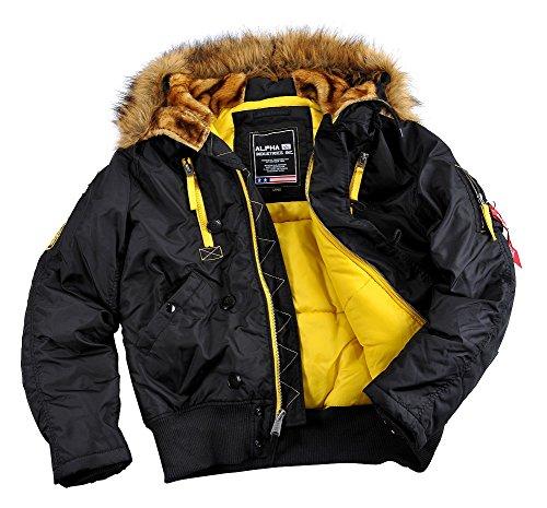 ALPHA INDUSTRIES PPS N2B Herren Jacke Parka Winterjacke 30087 (XL, Black)