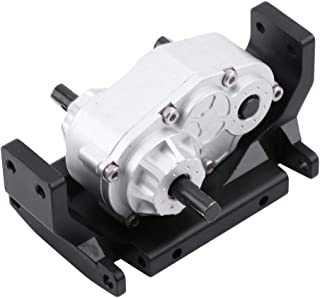 fosa Metal Transfer Case Gear Box with Mount for SCX10 / D90 1/10 RC Car Crawlers Trucks D90 Components Spare Parts Accessories