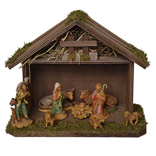Alfred kolf kerststal 1202/9 kerststal van hout voor 8-10 cm figuren 25 x 18 x 20 cm