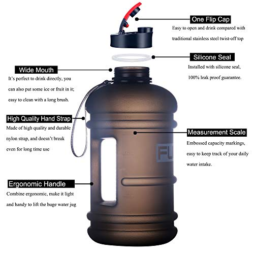 ArtLife Sports 2.7L Large Water Bottle Motivational with Time Marked Sport Water Jug Reusable Drinking Gym Water Bottle BPA Free