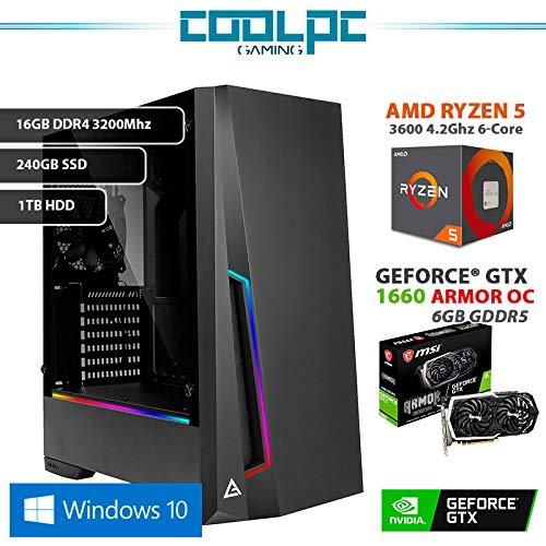 CoolPC - PC Gamer II (CPU 6-Core 6 x 4.2Ghz, MSI GeForce GTX 1660 ...