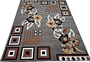 Zora Carpet for Living Room & Bedroom Super Soft for Home Size - 8 X 11 Ft (Grey)