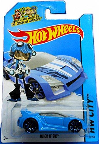 Hot Wheels 2014 Hw City Speed Team Blue Quick N\' Sik 32/250 by Hot Wheels