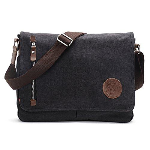 Shoulder Bags, Laxier(TM) Crossbody Casual Handbag Vintage Canvas Messenger Bags for Men and Women (Black)