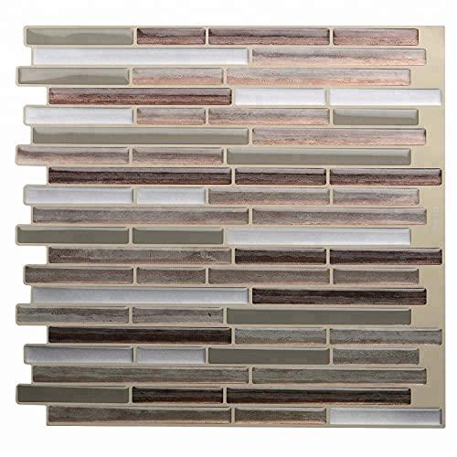 Azulejos de pared para pelar y pegar en 3D, protector contra salpicaduras de cocina, palillo de ladrillo 3D en azulejos, pegatinas autoadhesivas para azulejos de metro, salpicaduras para baño,5pc