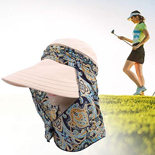 COHU Cappello da Golf a Prova di Sole, Berretto con Visiera da Golf, Bellissimo Staccabile Confortevole Regolabile per Sport all'Aria Aperta, Ragazze e Donne Che Giocano a Golf(31 * 30 * 5cm-Khaki)
