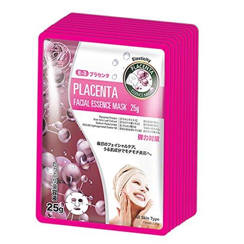 Mascarilla facial MITOMO con Placenta de Japón - 10 piezas