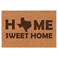 Daylor Coir Entry Doormat Door Mat Home Sweet Home Texas