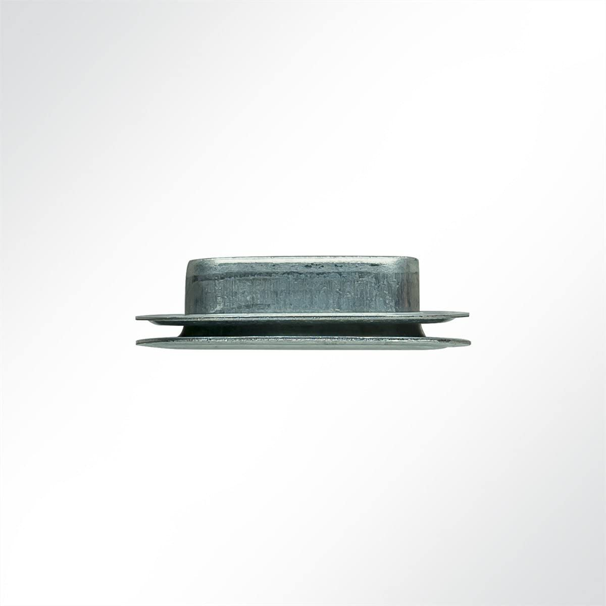 BxL 1 St/ück LYSEL/® Oval/öse 27x8 mm, 8x27mm in grau