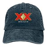 Zmli Cerveza Xx Dos Equis Baseball Cap for Mens and Womens,Navy,One Size