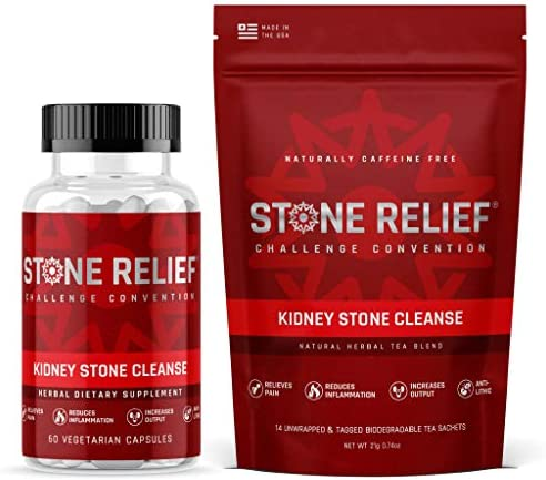Cleanse Bundle Pass Your Kidney Stone Faster with Less Pain Herbal Capsules Herbal Tea Sachets product image