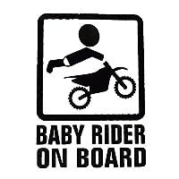 ALTAS+ カー ステッカー Baby in car 赤ちゃん こども 車 バイク デカール 張り方 説明書 防水 シルエット かわいい 面白い シール 【黒系】