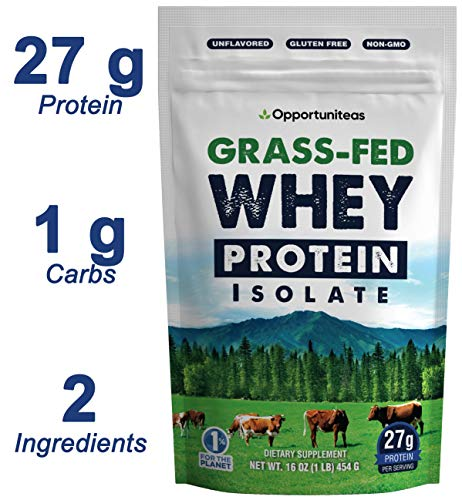 Grass Fed Whey Protein Powder Isolate - Unflavored + Cold...