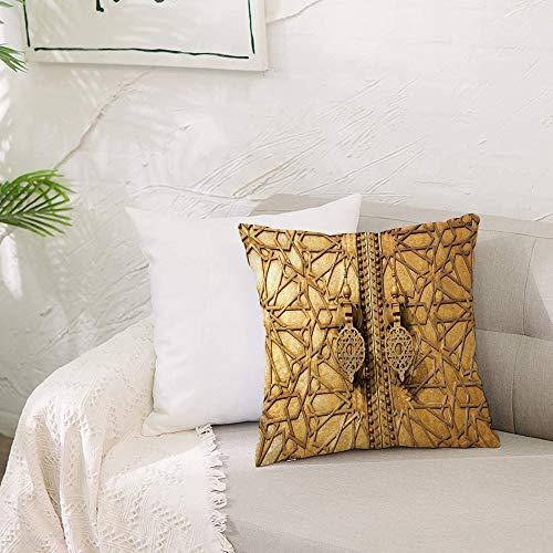 Fundas de cojín para con Cremallera Invisible PoliésterAlmohada Caso de,Marroquí, Puertas principales del Palacio Real de Marrakec,Dormitorio o Coche Decorativas Fundas Cojines 19 x 19inch 50 x 50cm