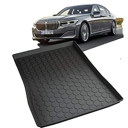 GWFVA Compatible con BMW Serie 7 2011-2020 (sin refrigerador) Alfombrilla para Maletero de Coche, Accesorios de Revestimiento de Caja de Carga TPV 3D