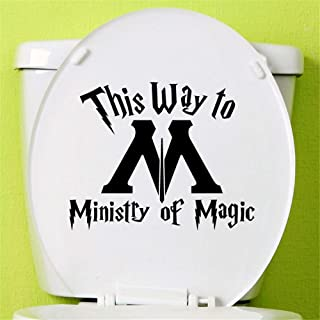 Juise Peel and Stick Removable Wall Stickers This Way to Ministry of Magic for Wc Toilet Wall Sticker
