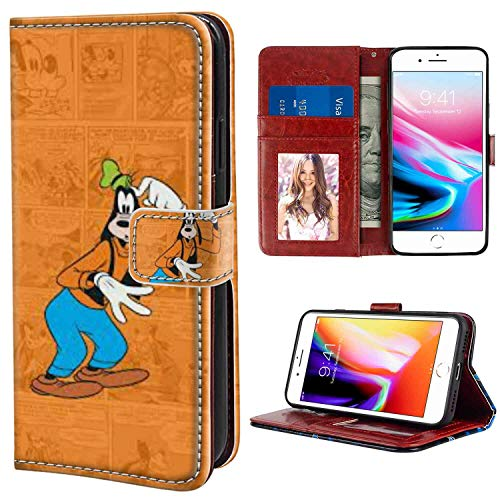 "Apple iPhone 7 Plus Wallet Case (2016) and iPhone 8 Plus Case (2017) (5.5"") Clubhouse Wallpaper Tvshow Comics Cute Goofy"