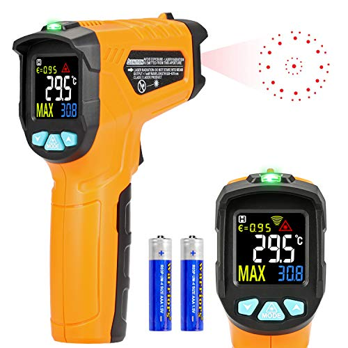 Termometro a infrarossi AD50 Termometro Digitale Laser Pistola Termometro Professionale -50°C a 600°C per cucina dolci forno ambiente interno industria e scienza LCD display