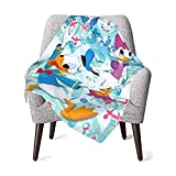 Donald Duck and Daisy Baby Blanket Warm Soft Flannel Blankets Throw Blanket for Boys and Girls Kids 30 X 40 Inch