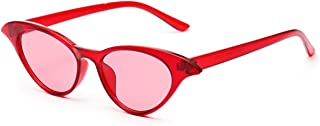Sunglasses Fashion Accessories Cat's Eye Sunglasses UV Retro Style for The Party Party (Color : Red)