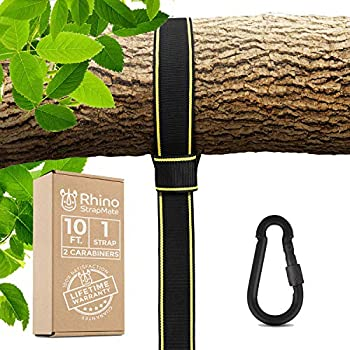 Tree Swing Strap Hanging Kit – 10ft Strap Holds 2800 lbs  SGS Certified  Fast & Easy Way to Hang Any Swing