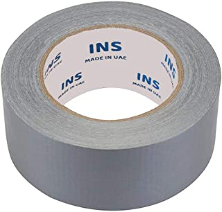 Duct Tape Silver Matt INS 1.89 inch x 50 Yards High Tensile Strengh Better Adhesion Big Roll (Pack of 1)