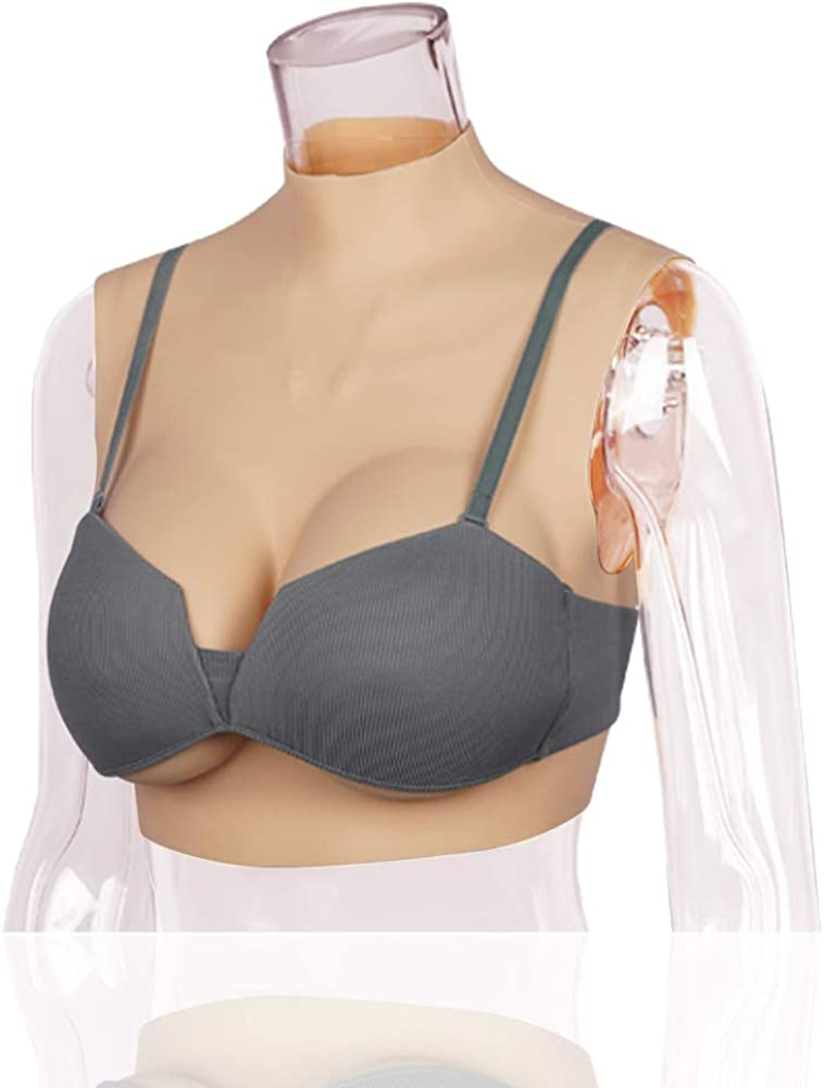 SALANE Silicone Filled Breastplate C-G Cup Breast Forms for Crossdressers Transgender Silicone Breast plates Bodysuit