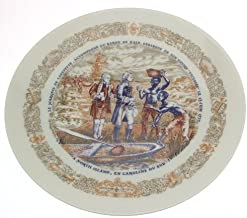 Limoges Marquis de Lafayette Legacy Collection plate Baron de Kalb disembarks from his ship Victoire at North Island - CP1352