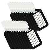 BlueCosto 20 Stück Kofferanhänger Gepäckanhänger für Koffer Luggage Tags - Schwarz