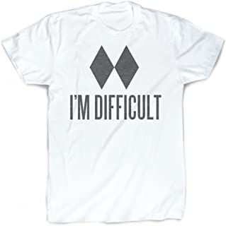 I`m Difficult T-Shirt | Vintage Faded Skiing T-Shirt by ChalkTalkSPORTS | Youth Large
