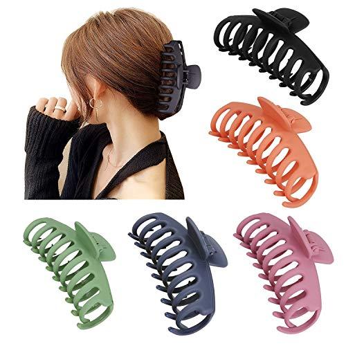5 Stück Große Haarklammer,Klaue Clips,Vintage Einfache Unregelmäßige Rutschfest Haarspangen Kunststoff Haar Krallen Haarklammern für Frauen