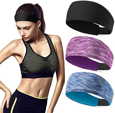 Sweat Bands No Slip Fashion Headbands for Women Workout Headbands Head Bands for Yoga Running product image