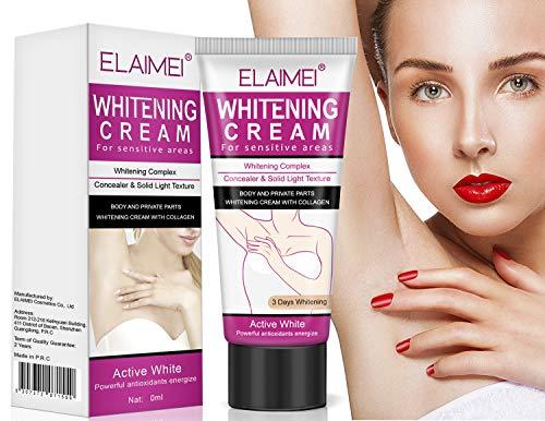Whitening Cream, Aufhellung Creme, Dark Armpit/Inner thigh/Elbow/Knee/Bikini Bleichen/Private Part Nipple Whitening Pinkish Bleaching Cream