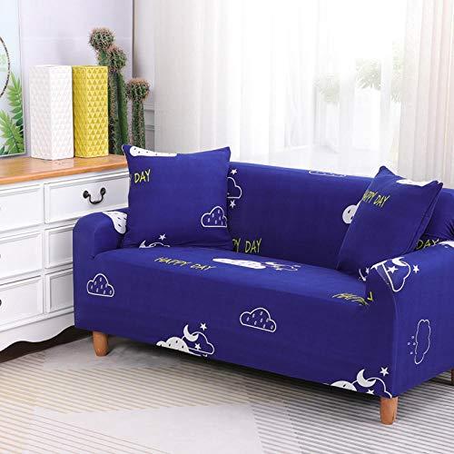HXTSWGS Funda para sofá de Tela,Funda de sofá elástica, Tela elástica, Funda Protectora para Muebles-Azul 14_145-185cm